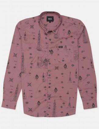 Relay presented onion pink shade printed shirt