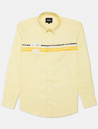 Relay yellow cotton shirt for mens
