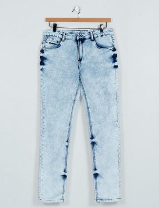 Rex Straut denim light blue washed effect jeans