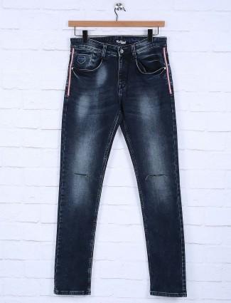 Rex Straut navy denim ripped jeans