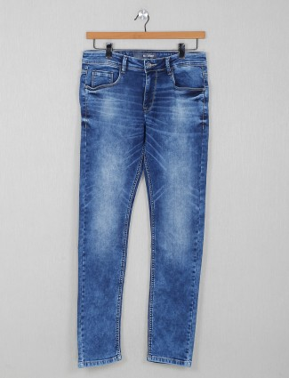 Rex Straut presented washed blue casual jeans