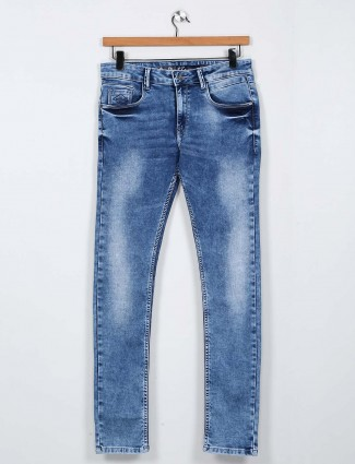 Rex Straut presented washed blue mens jeans