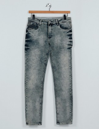 Rex Straut slim fit grey casual wear jeans