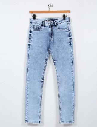 Rex Straut slim fit light blue casual wear jeans
