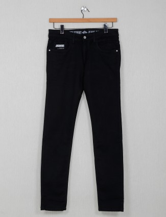 Rex Straut solid black jeans for mens