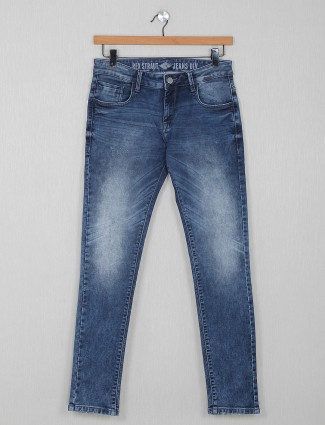 Rex Straut washed blue casual jeans