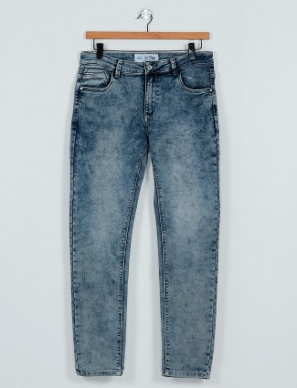 Rex Straut washed effect blue jeans