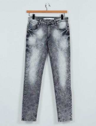 Rex Straut washed grey slim fit jeans