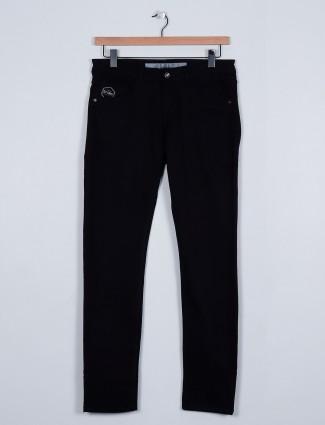 Rexstraut black casaul slim fit jeans for men
