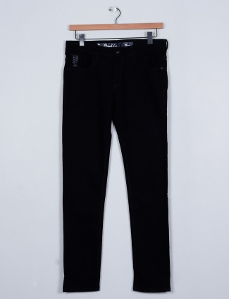 Rexstraut denim slim fit style black jeans