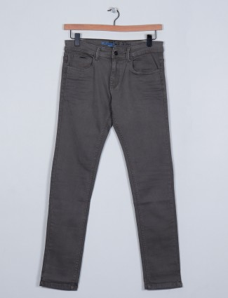 Rexstraut grey denim slim fit jeans for mens