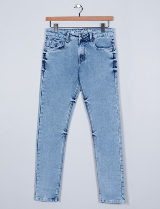 Rexstraut light blue casual slim fit jeans
