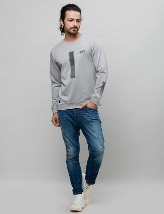 River Blue grey printed casual t-shirt