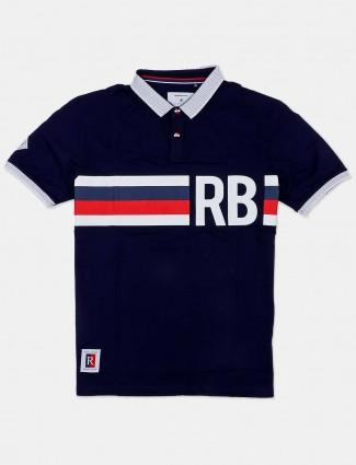 River Blue navy printed t-shirt