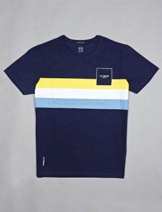 River Blue navy stripe t-shirt in cotton