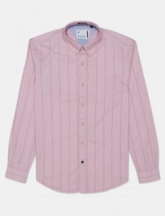 River Blue stripe pink shirt
