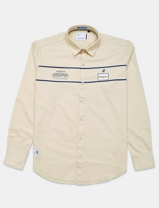 River Blue white printed shirt