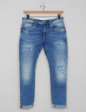Rookies blue mans washed jeans