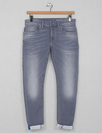 Rookies mens grey washed jeans