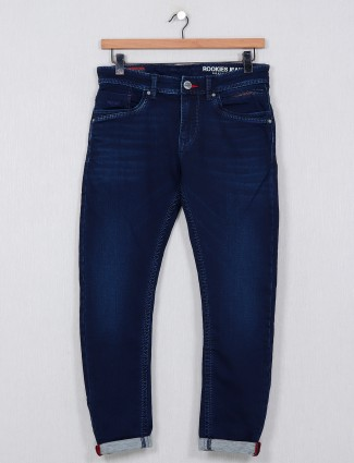 Rookies mens navy washed men jeans