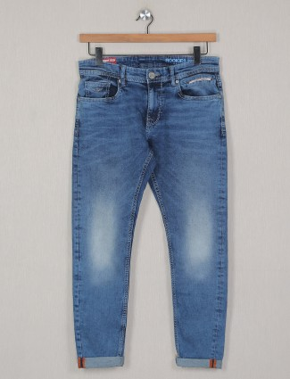 Rookies presented blue washed denim for mens