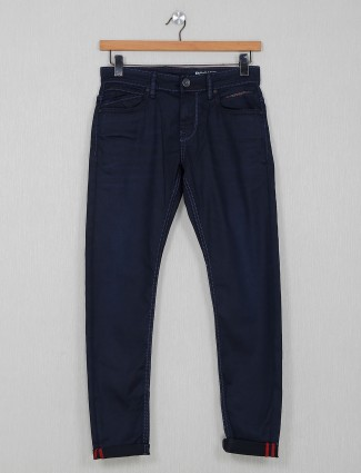 Rookies solid navy casual jeans