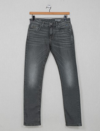 Rookies washed grey regular jeans