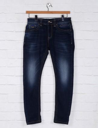 Rookies washed simple navy slim fit jeans