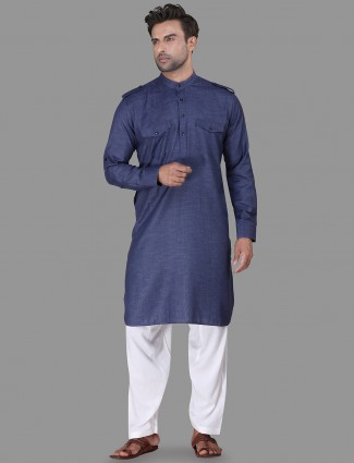 Royal blue classic pathani suit