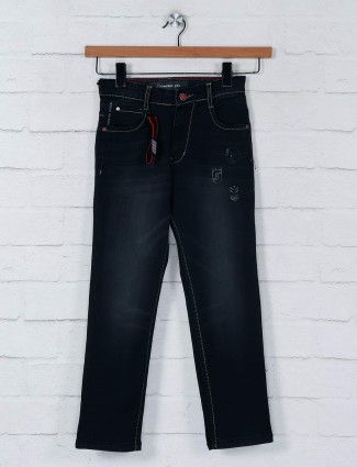Ruff black denim washed jeans