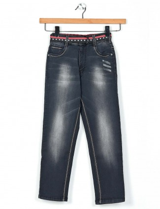 Ruff casual wear black washed jeans