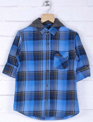 Ruff checks blue hue shirt