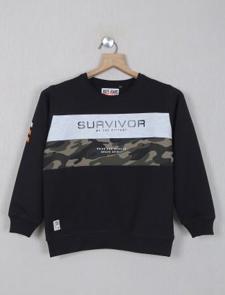 Ruff full sleeve printed black t-shirt