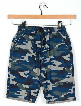 Ruff grey camoflauge boys cotton shorts