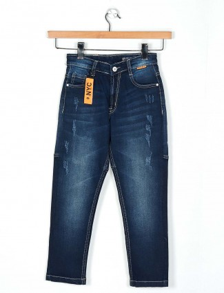 Ruff latest washed navy slim fit jeans