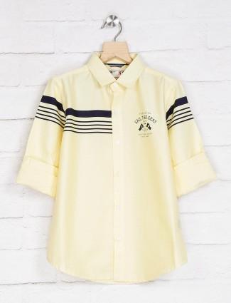 Ruff lemon yellow stripe boys shirt