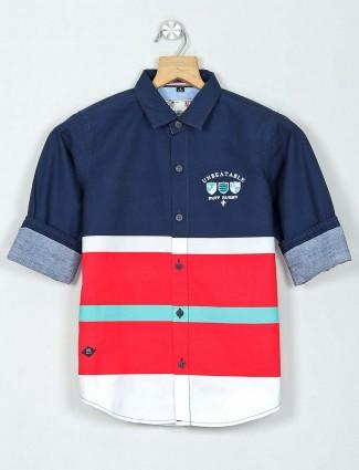 Ruff navy stripe cotton shirt