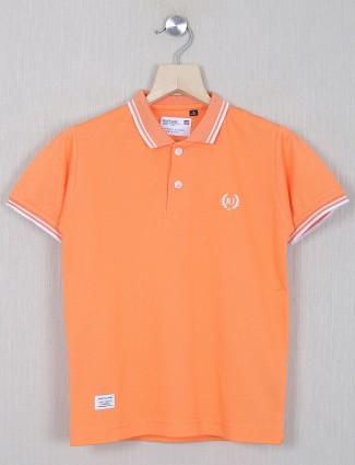 Ruff orange shade t-shirt for boys in cotton