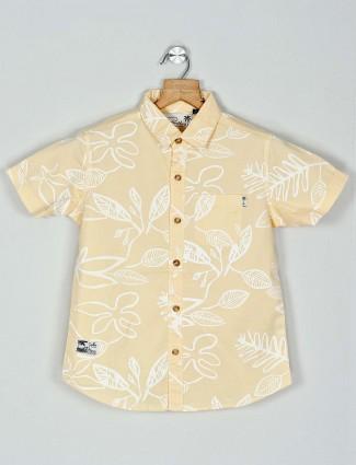 Ruff presented yellow cotton printed shirt