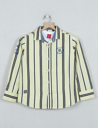 Ruff yellow cotton stripe shirt
