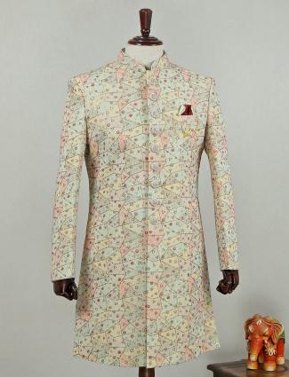 Silk multi color indo western suit