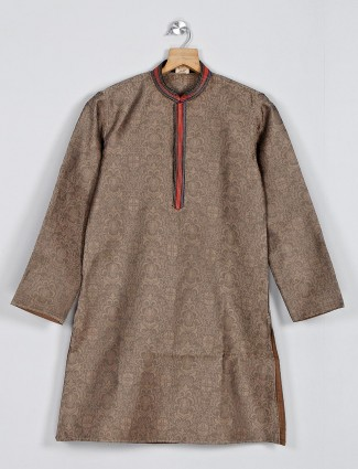 Sky blue festive function kurta suit in cotton