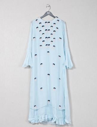 Sky blue gerogette causal wear kurti