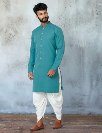 Sky blue shade dhoti suit for mens