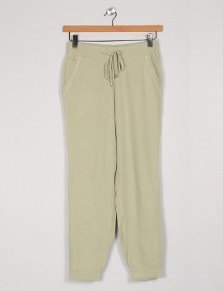Solid pista green cotton pyjama