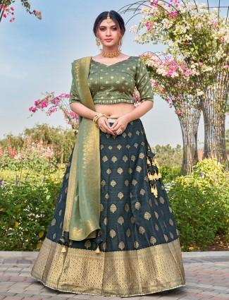 Splendid grey lehenga choli for wedding occasions