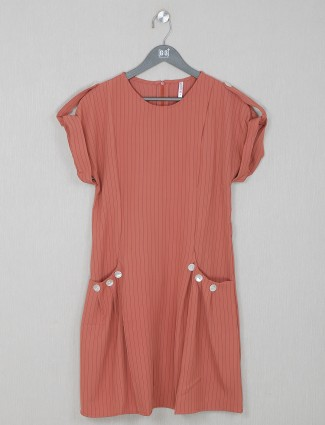 Stately brown cotton casual wear top