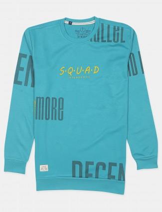 Stride aqua cotton slim fit t-shirt