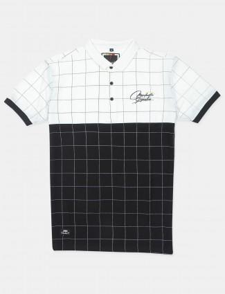 Stride cotton black printed casual t-shirt
