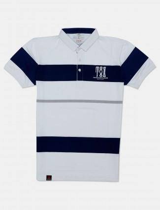 Stride polo white stripe polo t-shirt